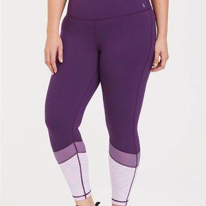 Torrid Purple Mesh Active Legging